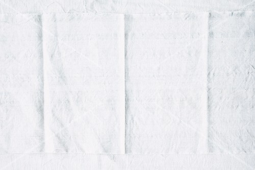 A white linen cloth as a background