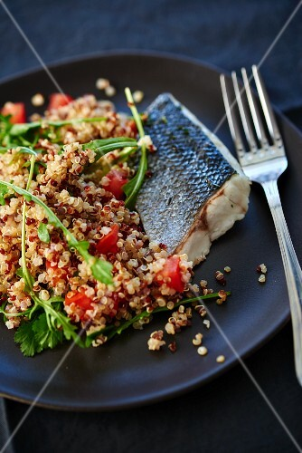 Branzini fillet with quinoa