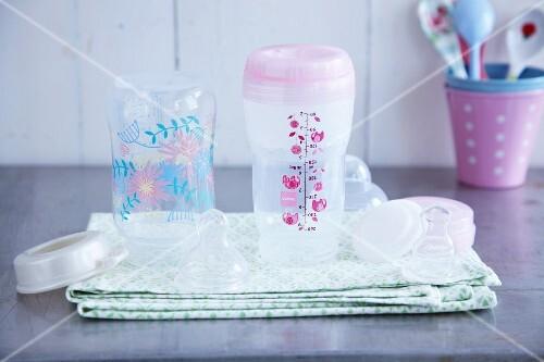 Milk bottles for baby food