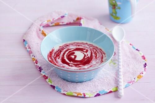 Berry mush as baby food