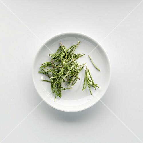 A plate of dried rosemary