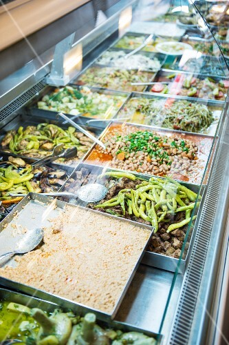 Turkish meze in a chiller display