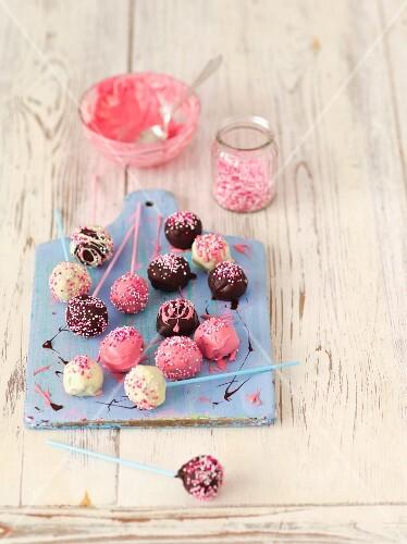 Chocolate cake pop truffles