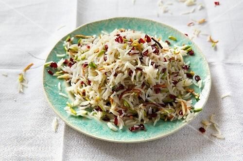 Jewelled rice (spiced Arabian rice) with barberries