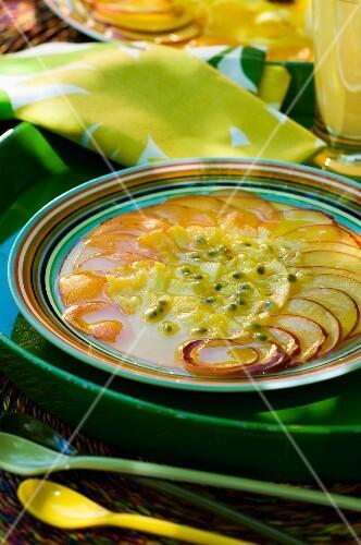 Exotic fruit carpaccio