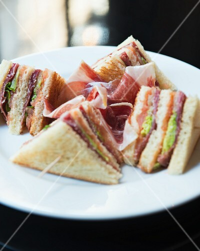 Toasted sandwiches with Bellota ham (Spain)