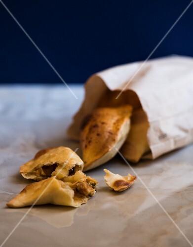 Empanadas in a paper bag