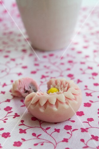Wagashi chrysanthemum (Japanese sweet)