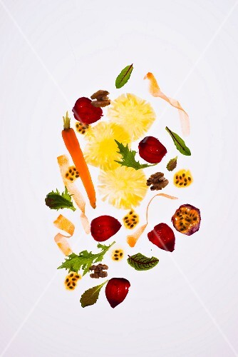Carrot, beetroot and pineapple salad