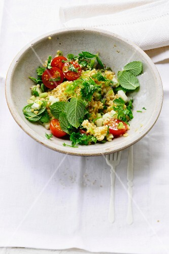 Tabbouleh with tomatoes and mint