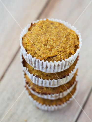 Healthy vegan pumpkin and millet muffins