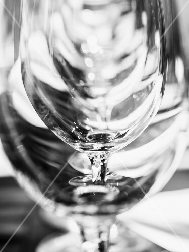 Wine glasses, close up