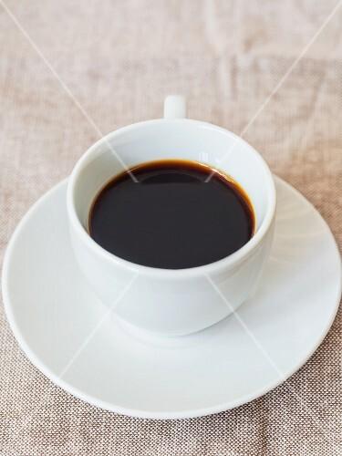 A cup of red espresso (rooibos espresso)
