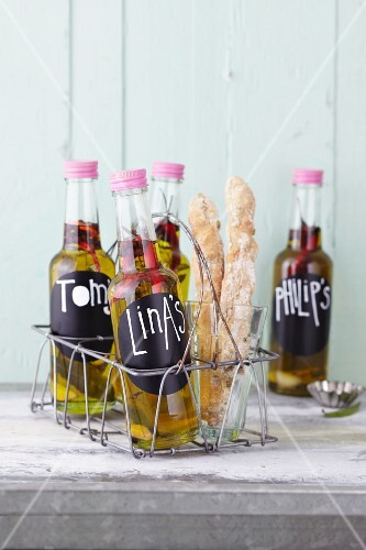 Homemade spice oil as a gift