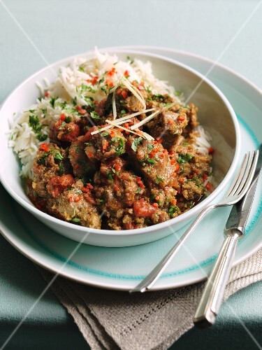 Lamb ragout with rice