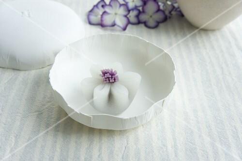 Hydrangea wagashi (ajisai) from Japan