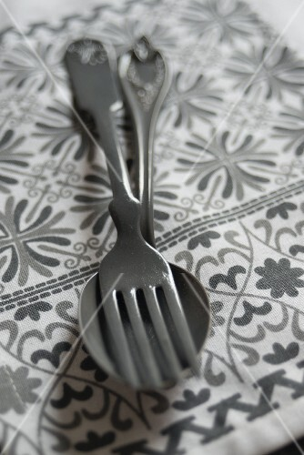Old cutlery (fork and spoon)