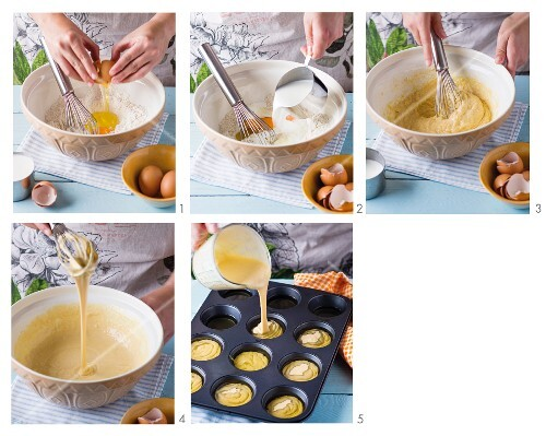 Yorkshire puddings being made