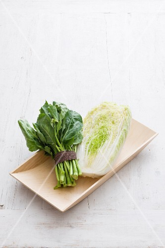 Chinese cabbage and gai lan (Chinese greens)