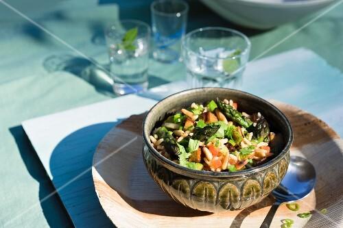 Turkish style vegan asparagus pilau