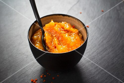 Sweet apricots with chilli