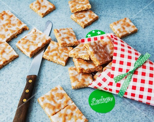 Vegan Basler Leckerli (hard spiced biscuit from Basel, Switzerland)