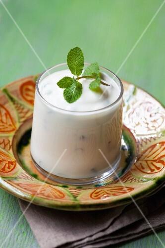 Tzatziki with fresh mint