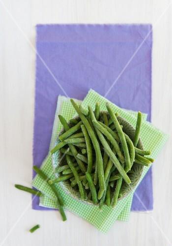Frozen beans (seen from above)