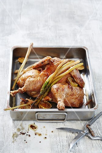 Butterfly chicken with asparagus