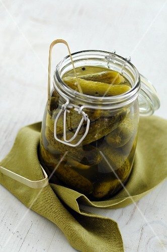 A jar of cornichons