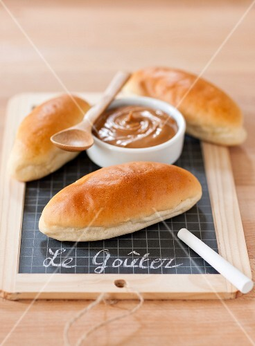Milk rolls and chocolate spread