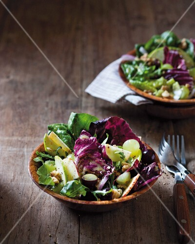 Waldorf salad with radicchio