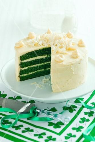 A St. Patrick Day's cake
