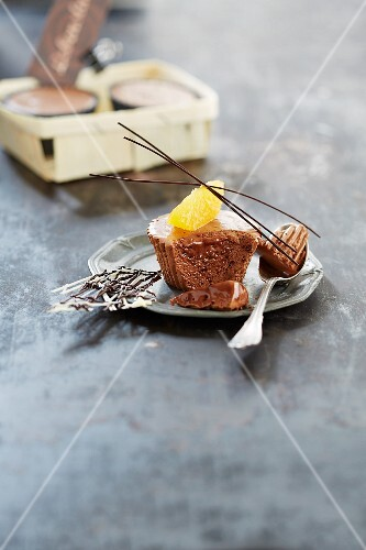 Chocolate parfait with orange