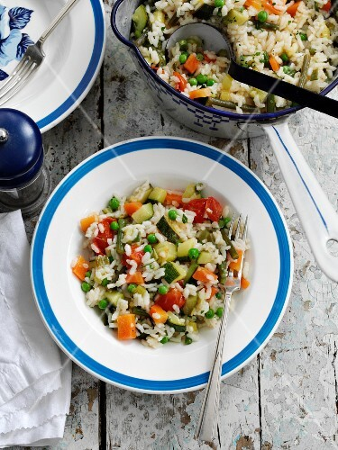 Mixed vegetable risotto