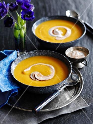 Cream of sweet potato soup (Morocco)