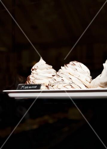 Meringues on a tray (Italy)