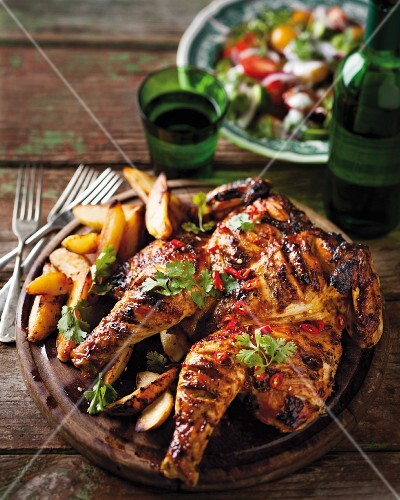 Grilled chicken with chilli