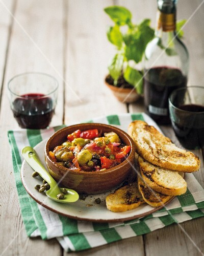 Caponata con i capperi (Sweet-and-sour vegetables with capers, Italy)