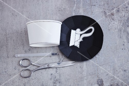 Utensils for making cups from paper pots