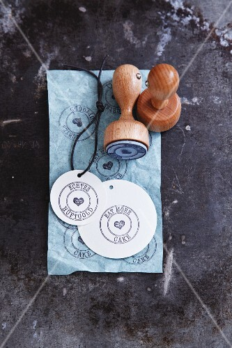Decorative stamps for decorating gifts
