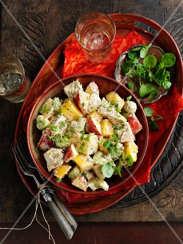Coronation chicken salad (England)
