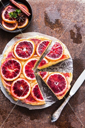 Blood orange sponge cake