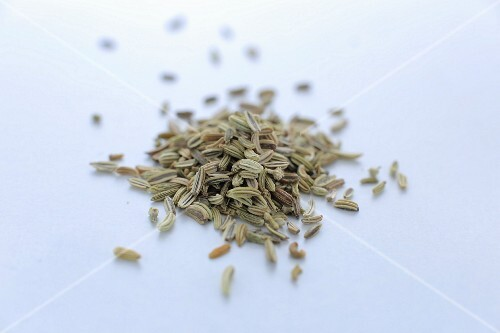 A pile of fennel seeds