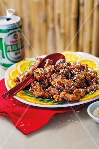 General chicken (battered chicken, China)