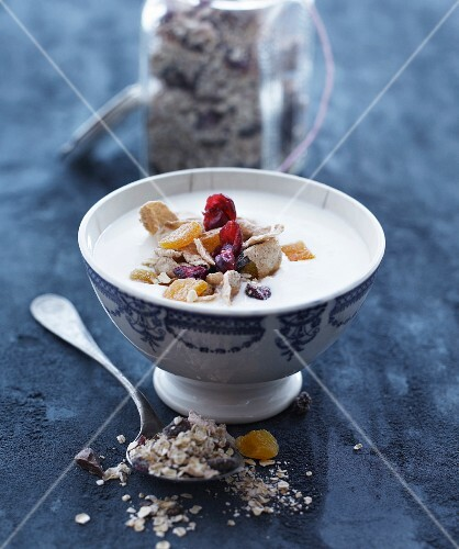 Muesli with dried fruits and berries