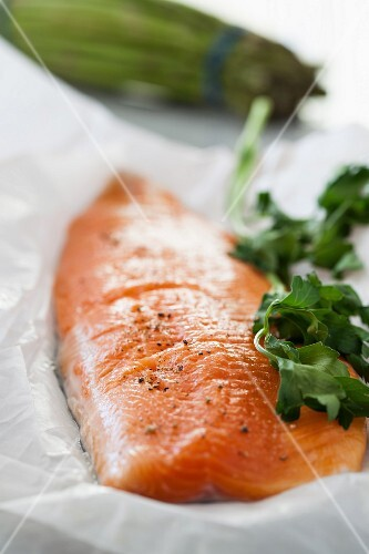 Arctic char with fresh herbs