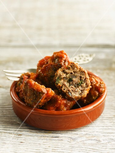 Beef meatballs with a tomato sauce