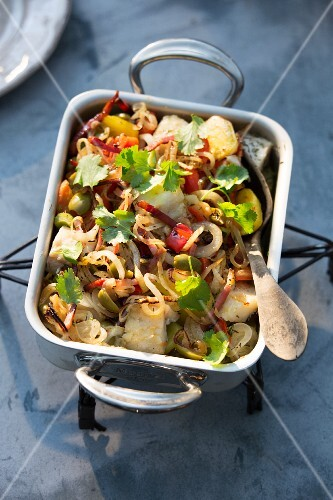 Stockfish bake with onions