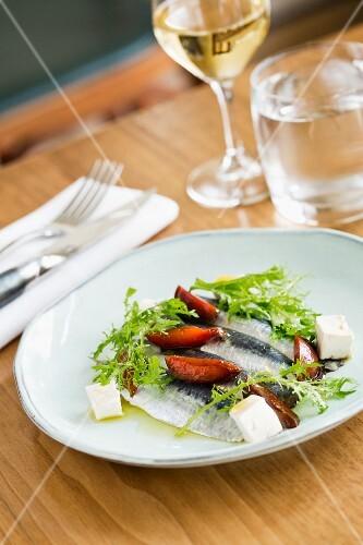 Sardines in the restaurant Le Servan, Paris